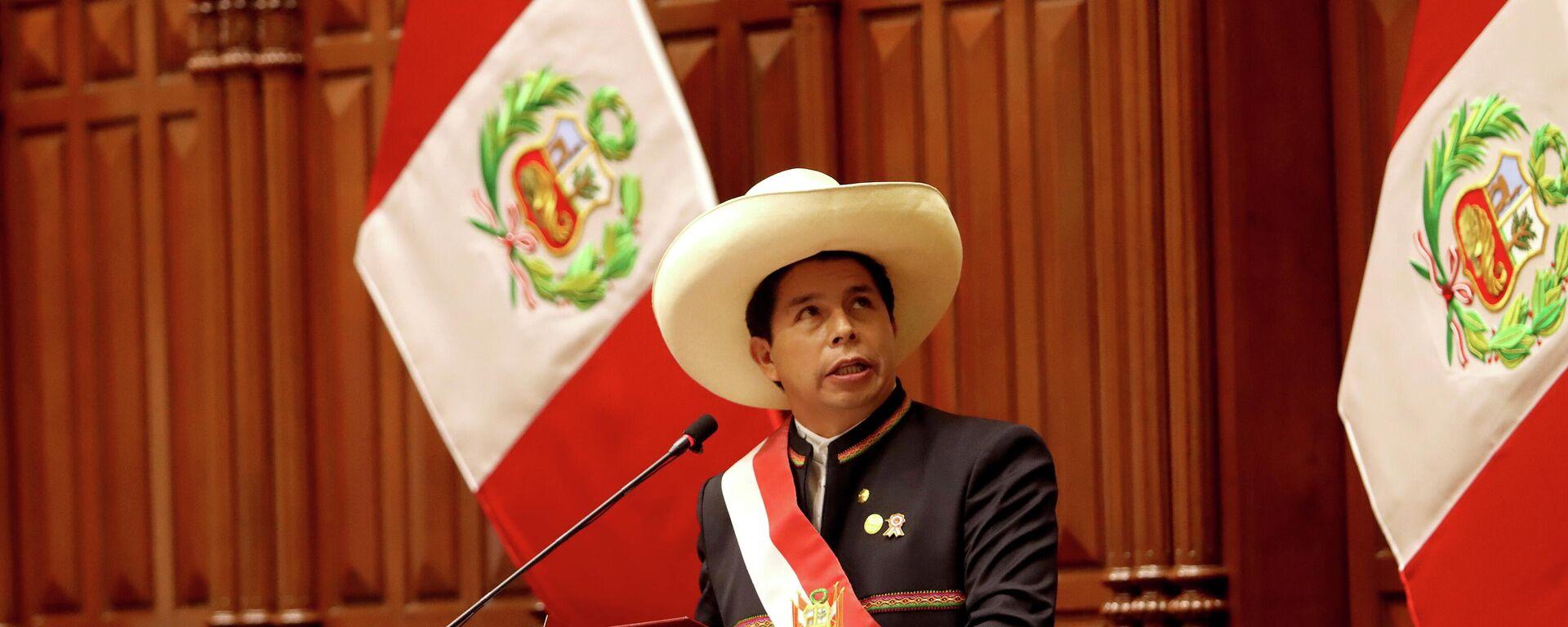 Pedro Castillo, presidente de Perú - Sputnik Mundo, 1920, 30.07.2021