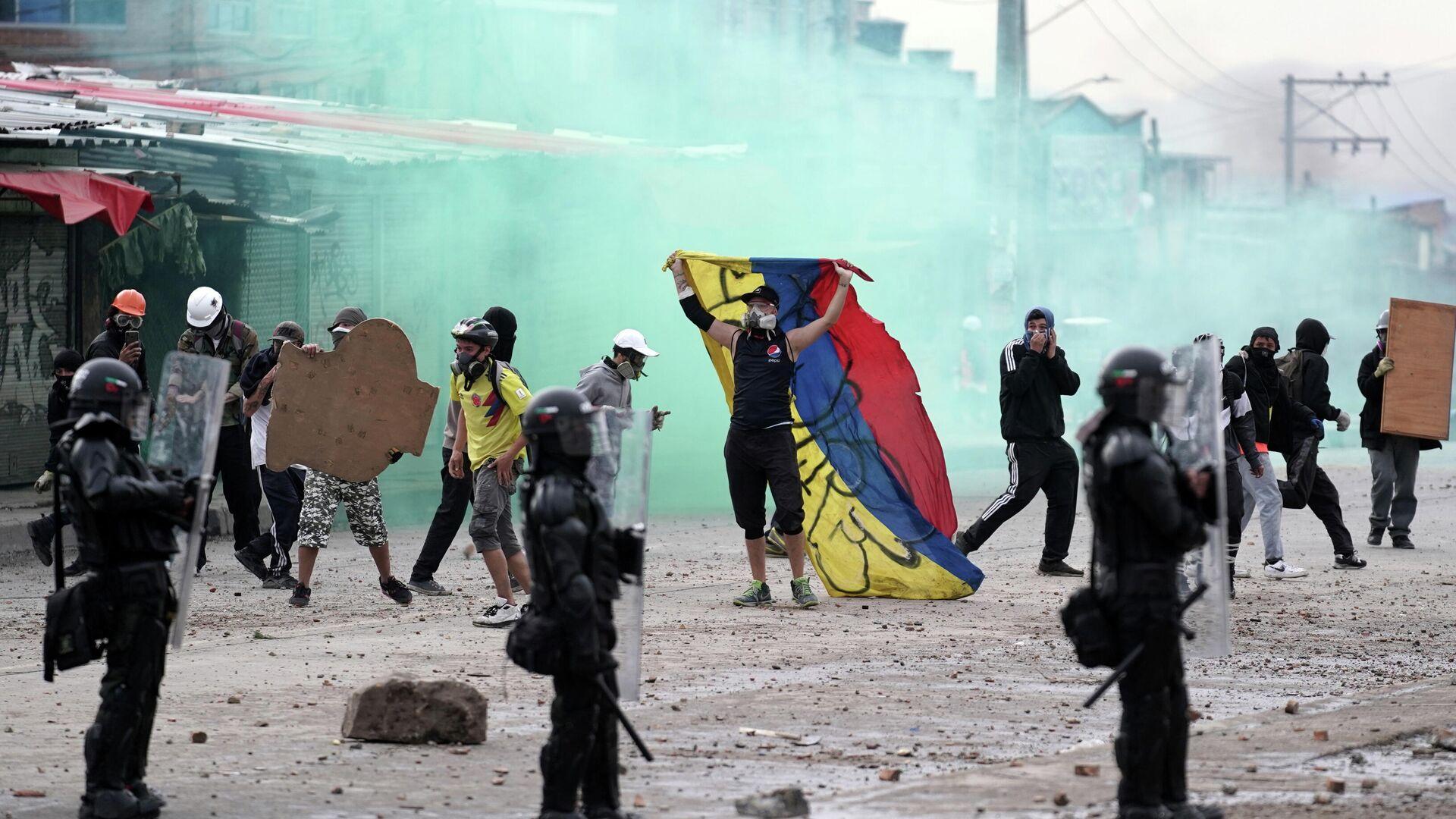 Protestas en Bogotá, Colombia - Sputnik Mundo, 1920, 29.07.2021