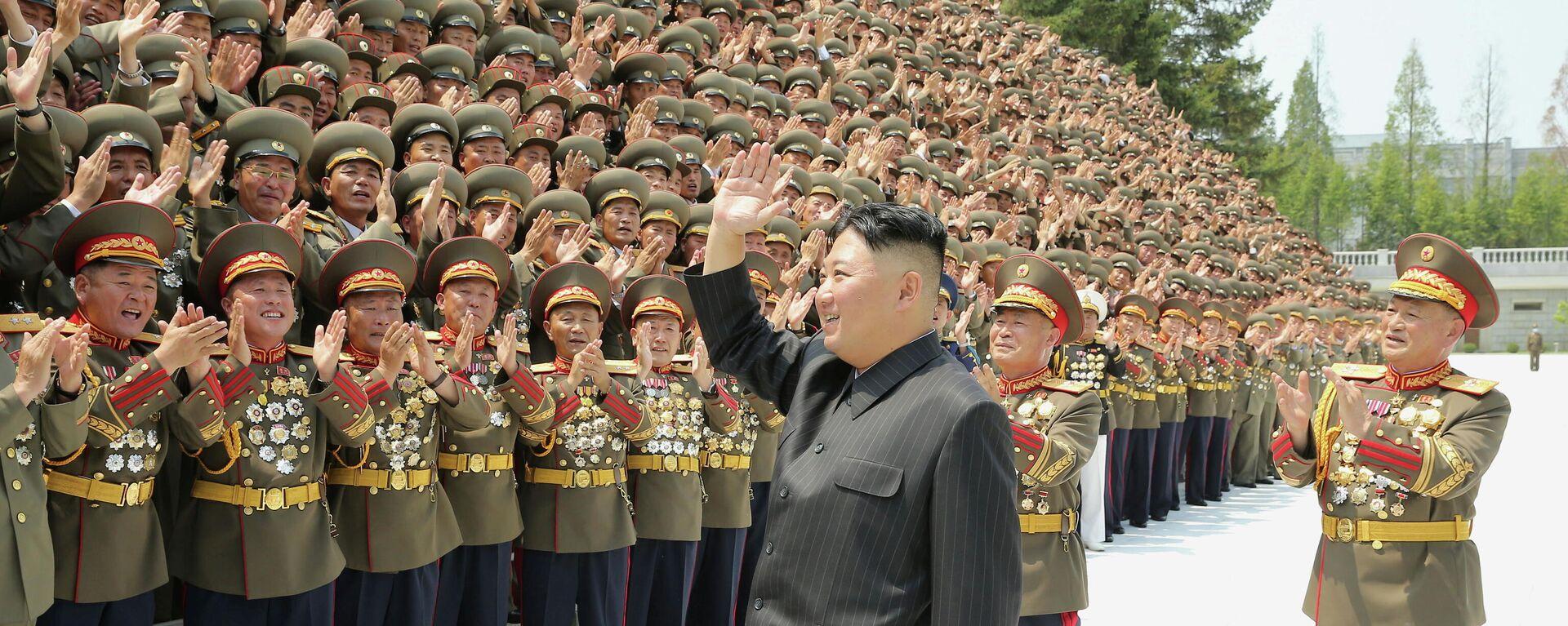 El líder de Corea del Norte, Kim Jong-un - Sputnik Mundo, 1920, 30.07.2021