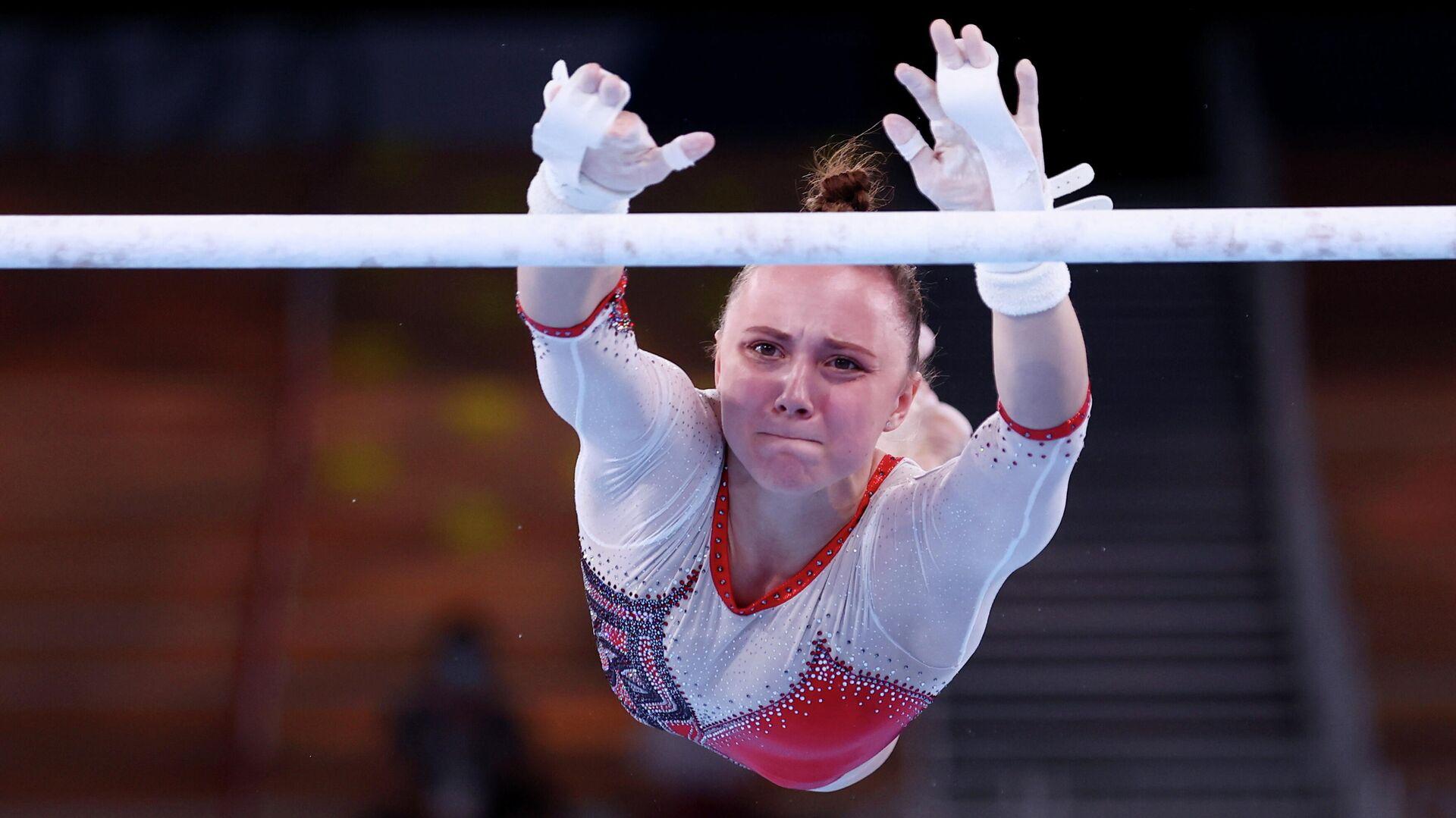 La gimnasta rusa Anastasia Iliankova, Tokio, el 1 de agosto de 2021 - Sputnik Mundo, 1920, 01.08.2021