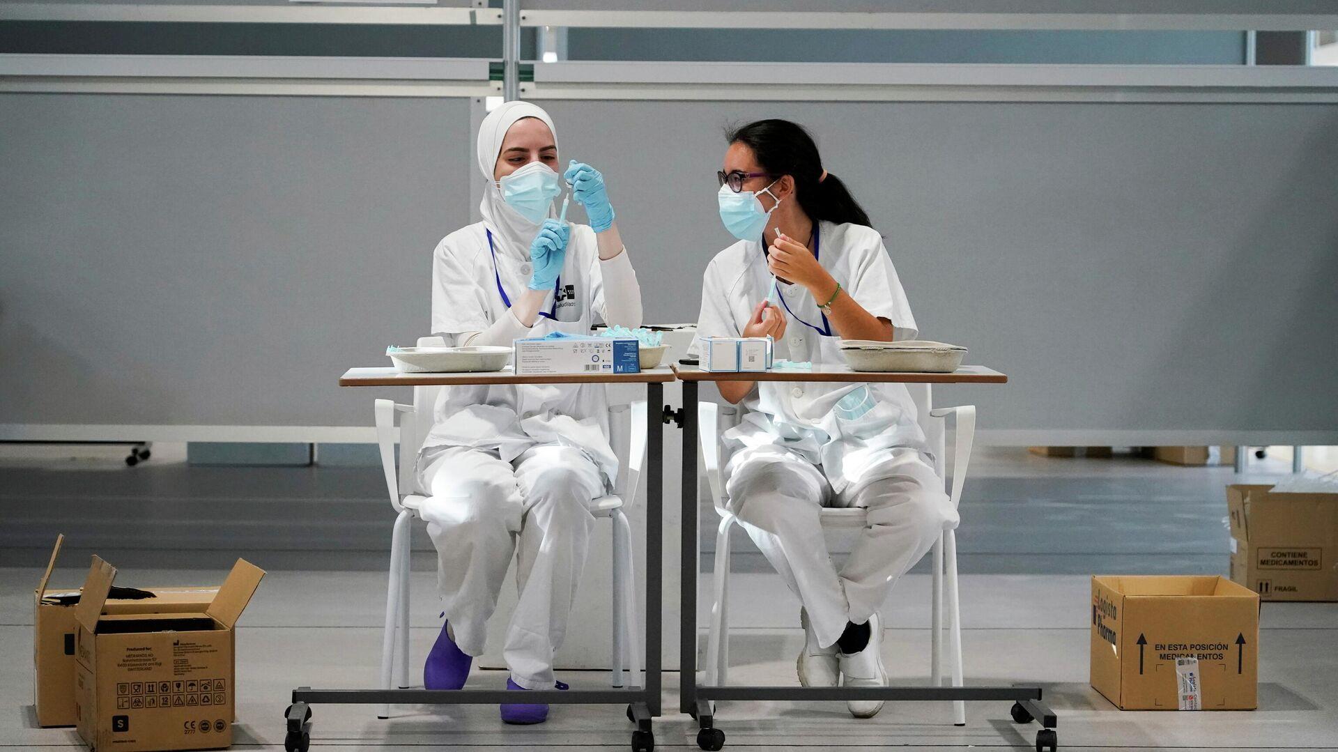 Enfermeras españolas - Sputnik Mundo, 1920, 03.08.2021