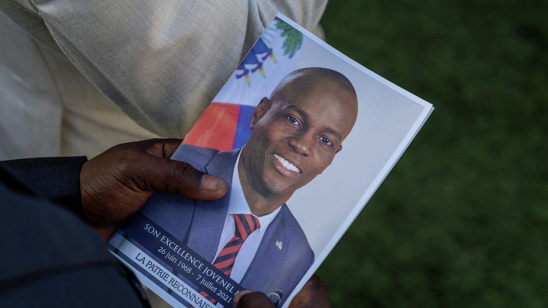 El retrato del asesinado presidente de Haití, Jovenel Moise - Sputnik Mundo, 1920, 03.08.2021