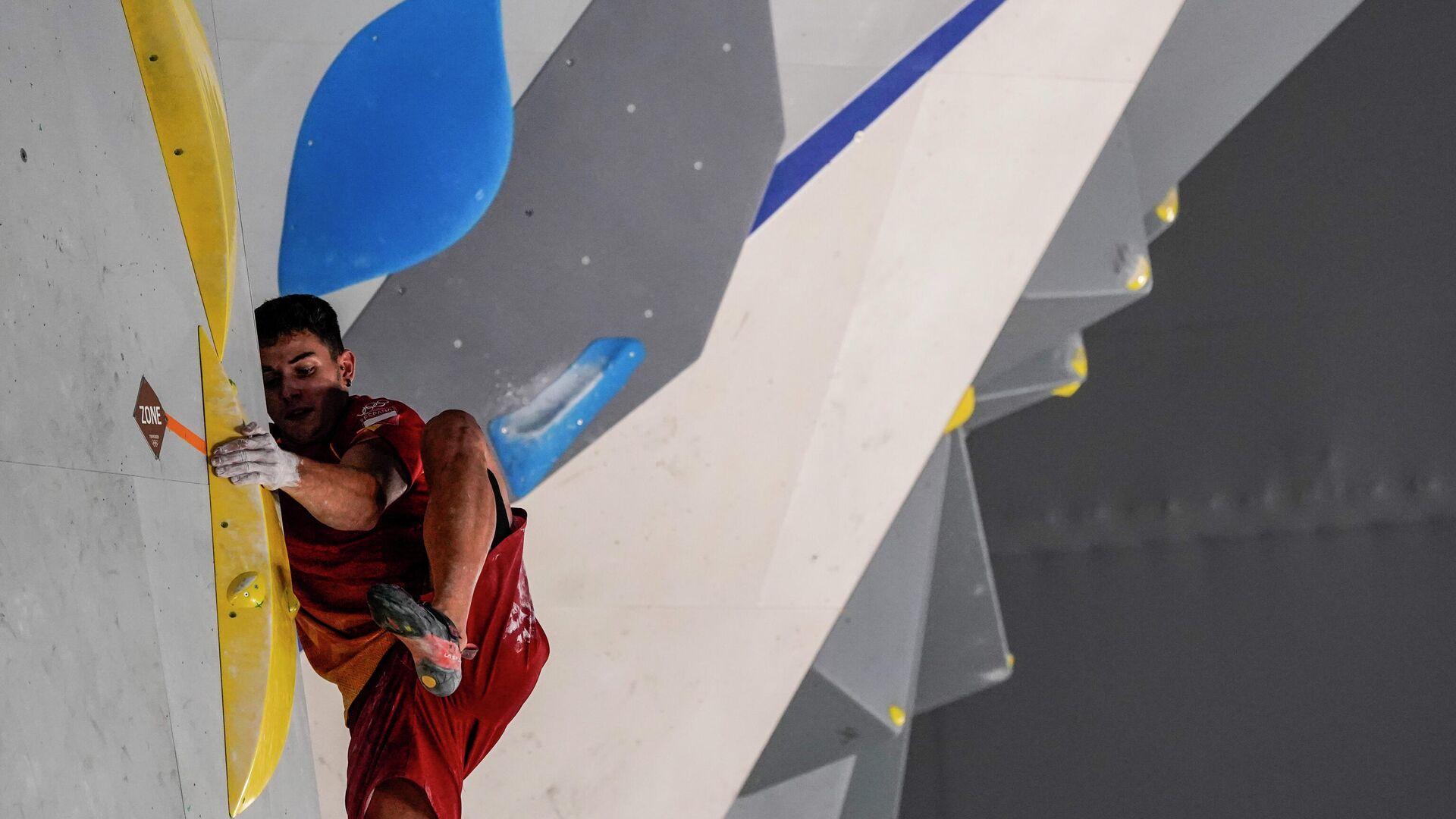 Alberto Ginés Lopez en la competición de bloques de escalada deportiva en los JJOO - Sputnik Mundo, 1920, 05.08.2021