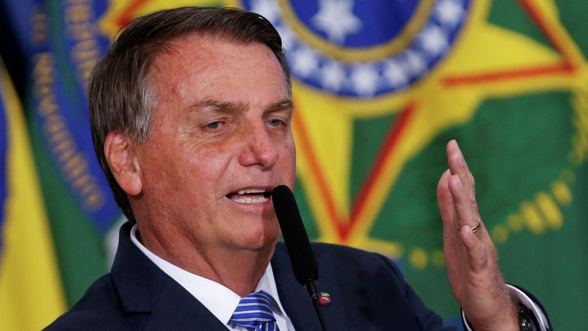 El presidente brasileño, Jair Bolsonaro - Sputnik Mundo, 1920, 06.09.2021