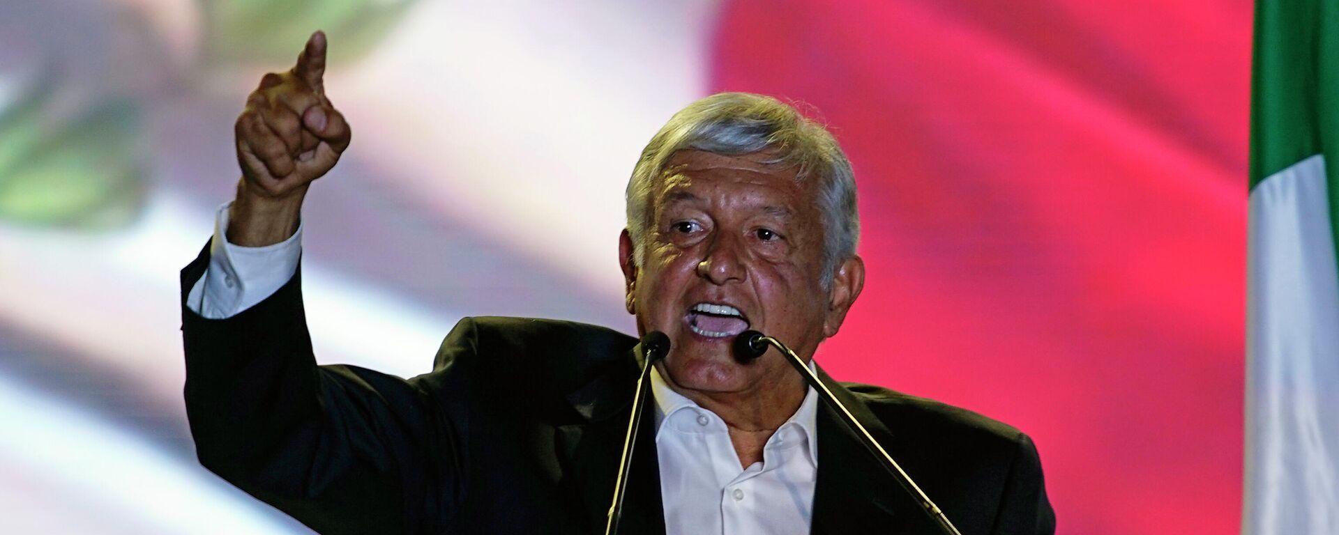 El presidente de México, Andrés Manuel López Obrador - Sputnik Mundo, 1920, 01.10.2021