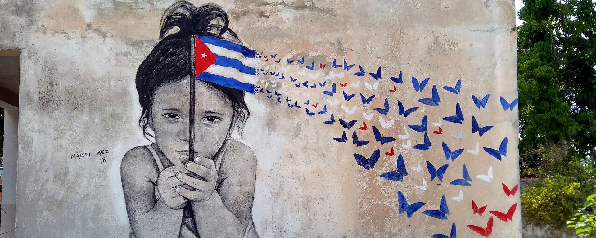 Rostros de niños en murales de la serie 'Colosos', del artista Maisel López, ubicados en La Habana, Cuba - Sputnik Mundo, 1920, 10.08.2021