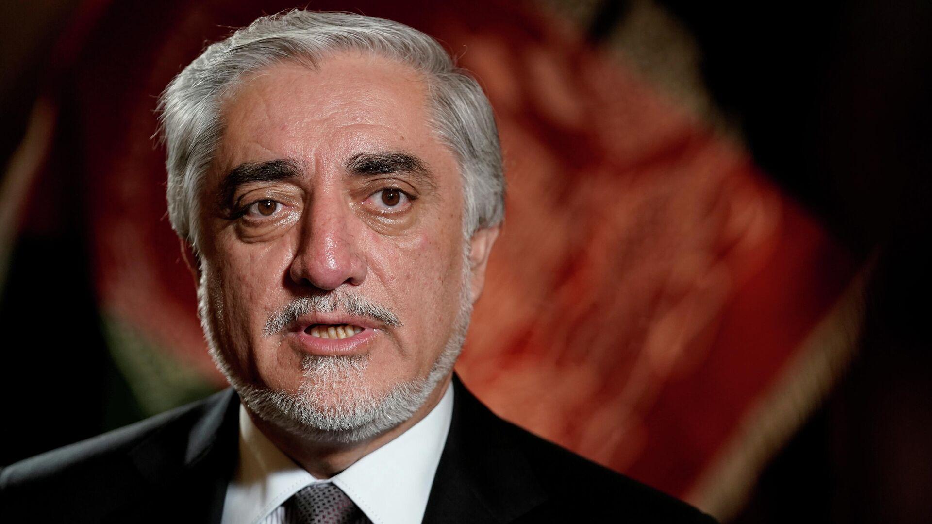 Abdullah Abdullah, el jefe del Alto Consejo para la Reconciliación Nacional de Afganistán - Sputnik Mundo, 1920, 10.08.2021