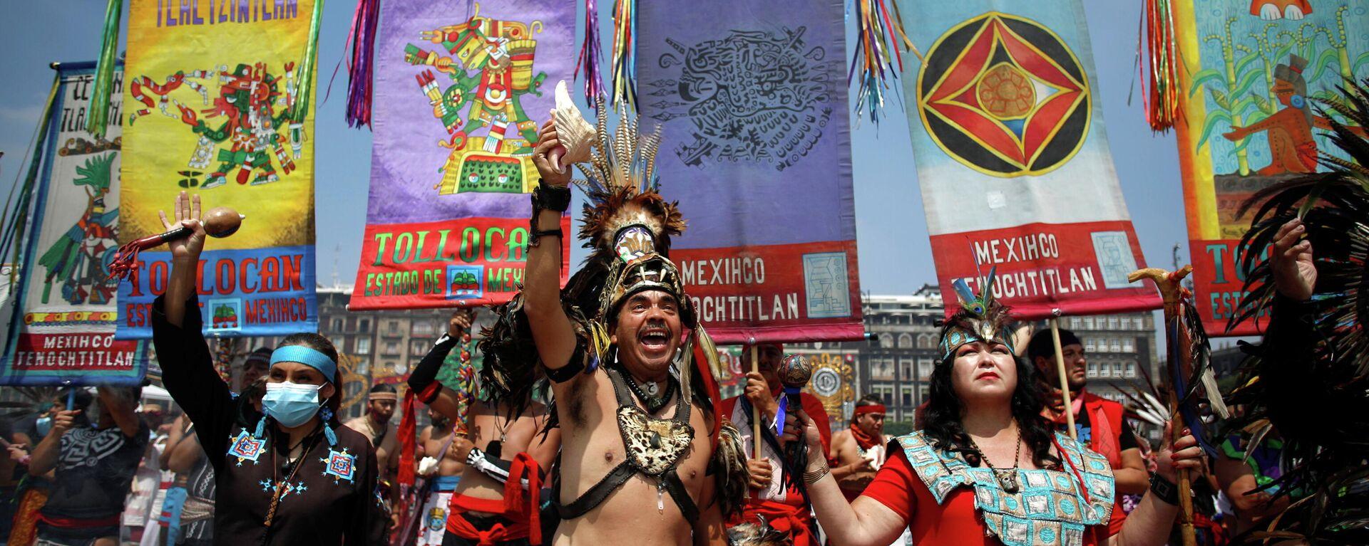 México conmemora los 500 años de la caída de Tenochtitlán - Sputnik Mundo, 1920, 13.08.2021