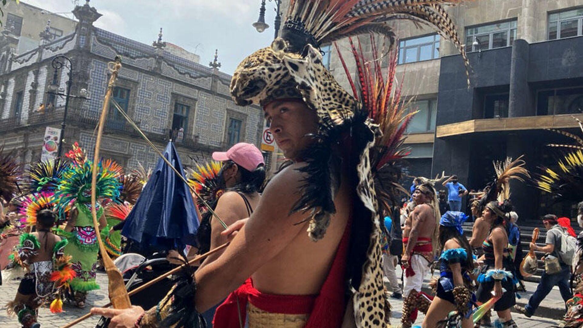 Celebración de 500 años de resistencia tenochka, Ciudad de México  - Sputnik Mundo, 1920, 15.09.2021