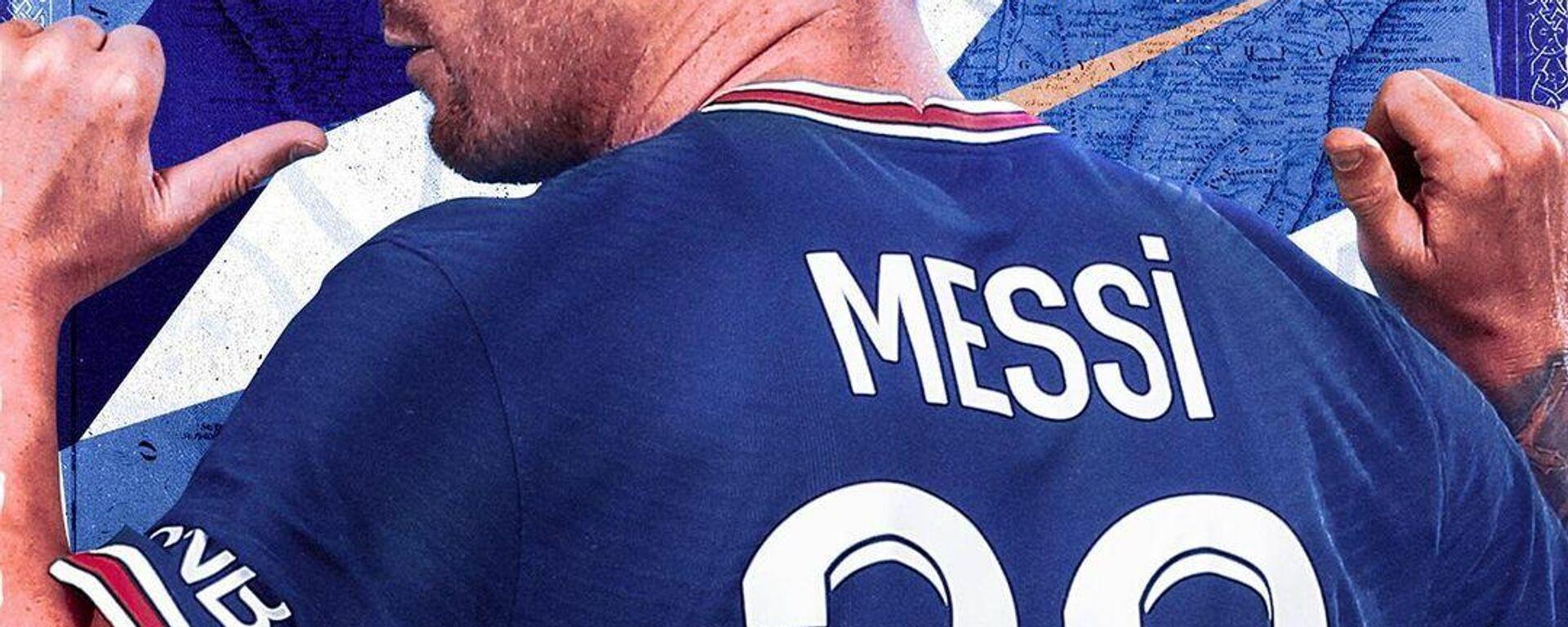 Camiseta Lionel Messi - Sputnik Mundo, 1920, 14.08.2021