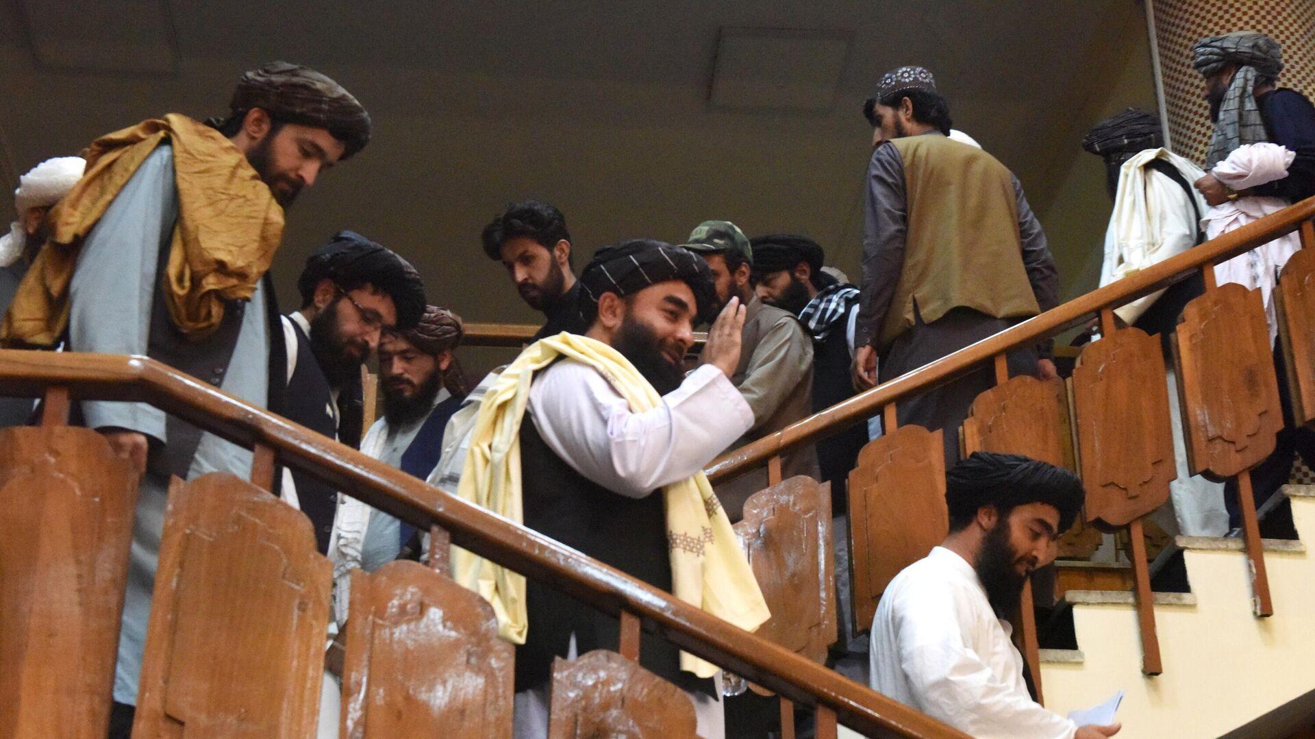 Delegación de los talibanes* (organización terrorista proscrita en Rusia) - Sputnik Mundo, 1920, 12.10.2021