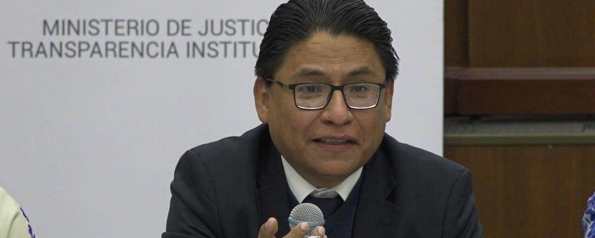 Iván Lima Magne, ministro de Justicia y Transparencia Institucional de Bolivia - Sputnik Mundo, 1920, 19.08.2021