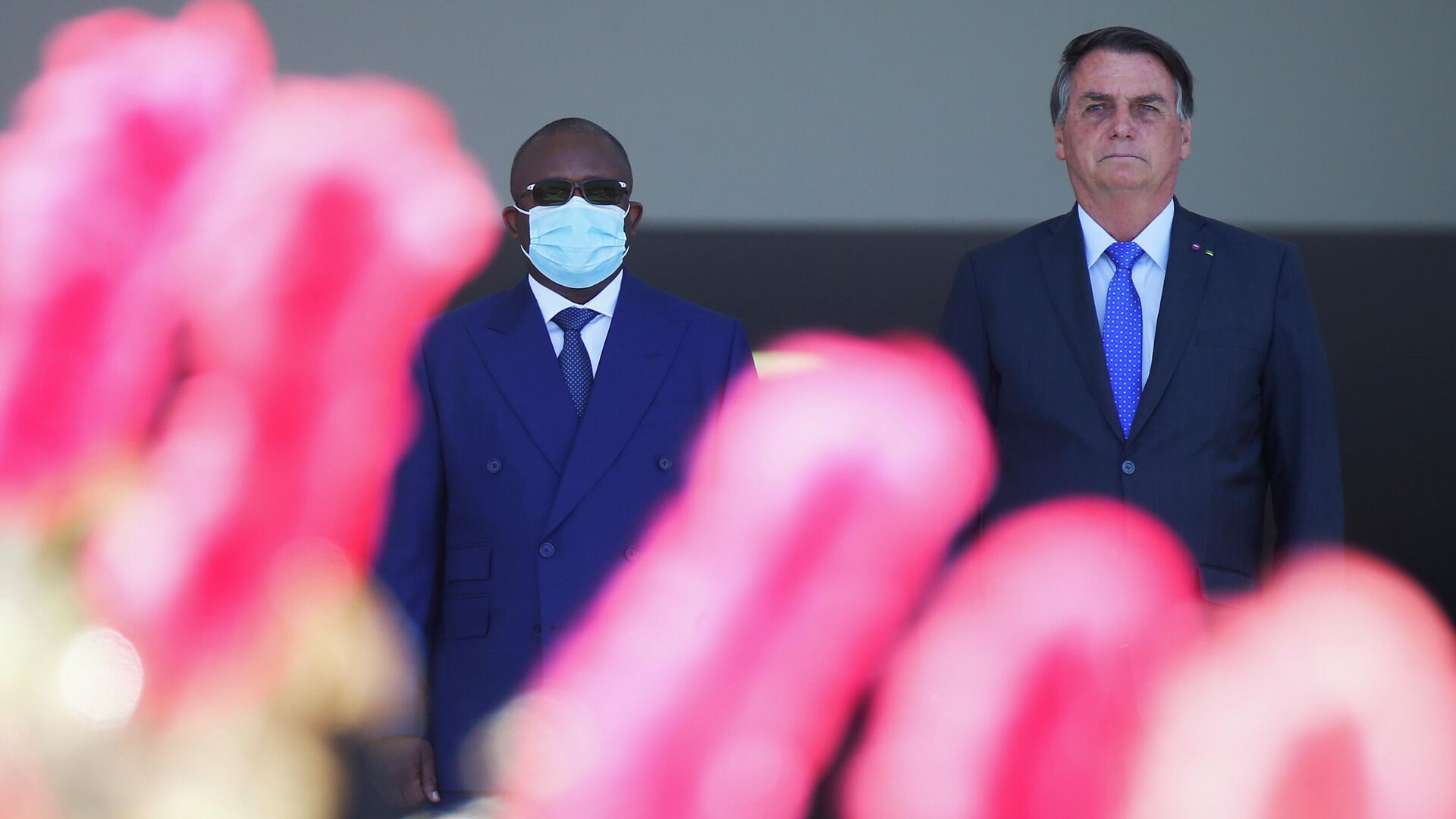 El presidente brasileño Jair Bolsonaro recibió en Brasilia al presidente de Guinea-Bissau, Umaro Sissoco Embaló - Sputnik Mundo, 1920, 24.08.2021