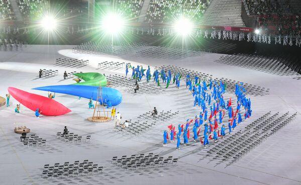 Unas horas antes de la inauguración de los Juegos Paralímpicos, en el parque tokiota de Yoyogi tuvo lugar la ceremonia de clausura del relevo de la antorcha paralímpica. - Sputnik Mundo