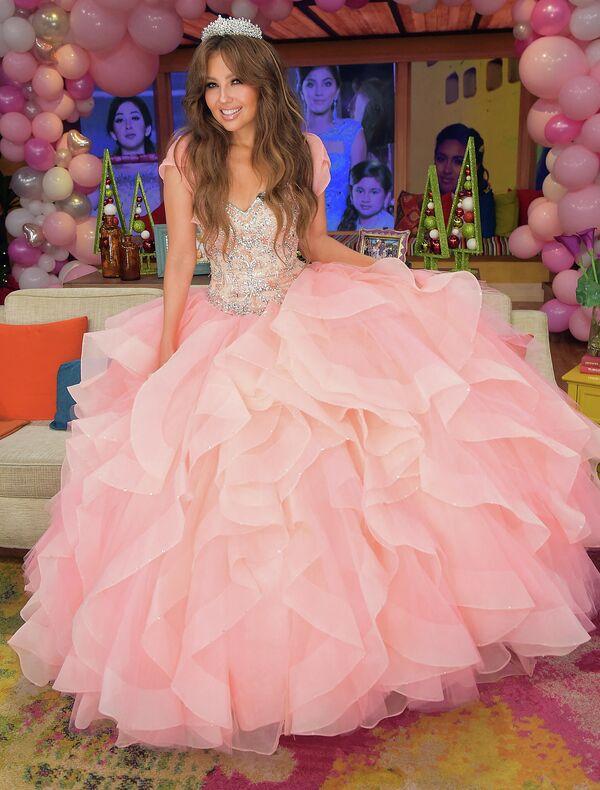 Thalía en el set del programa Despierta América de la cadena Univision. - Sputnik Mundo