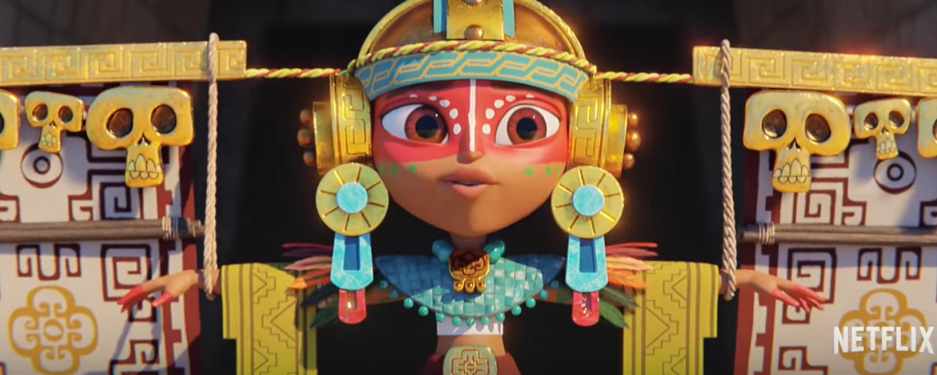 La guerrera Maya, la protagonista de la serie de Netflix 'Maya y los tres' - Sputnik Mundo, 1920, 26.08.2021