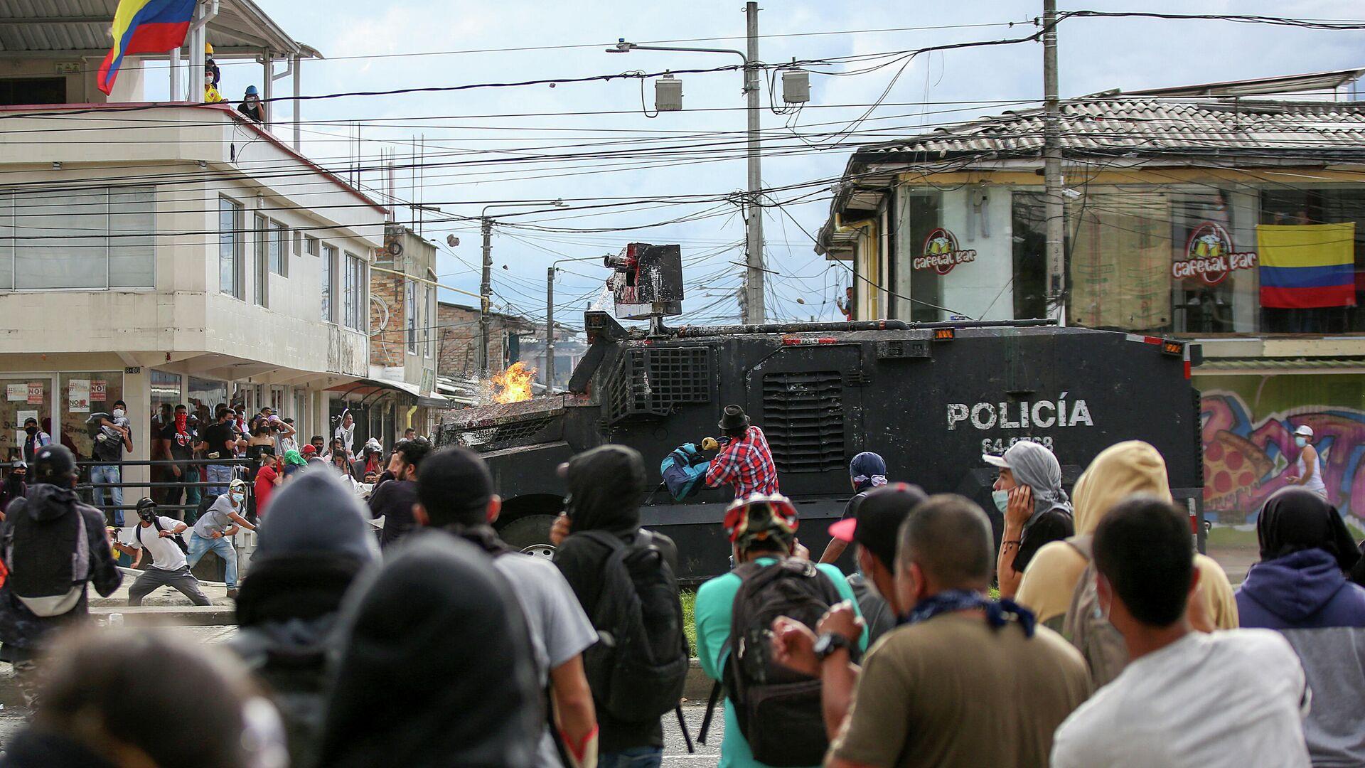 Protestas en Popayán, Colombia  - Sputnik Mundo, 1920, 27.08.2021