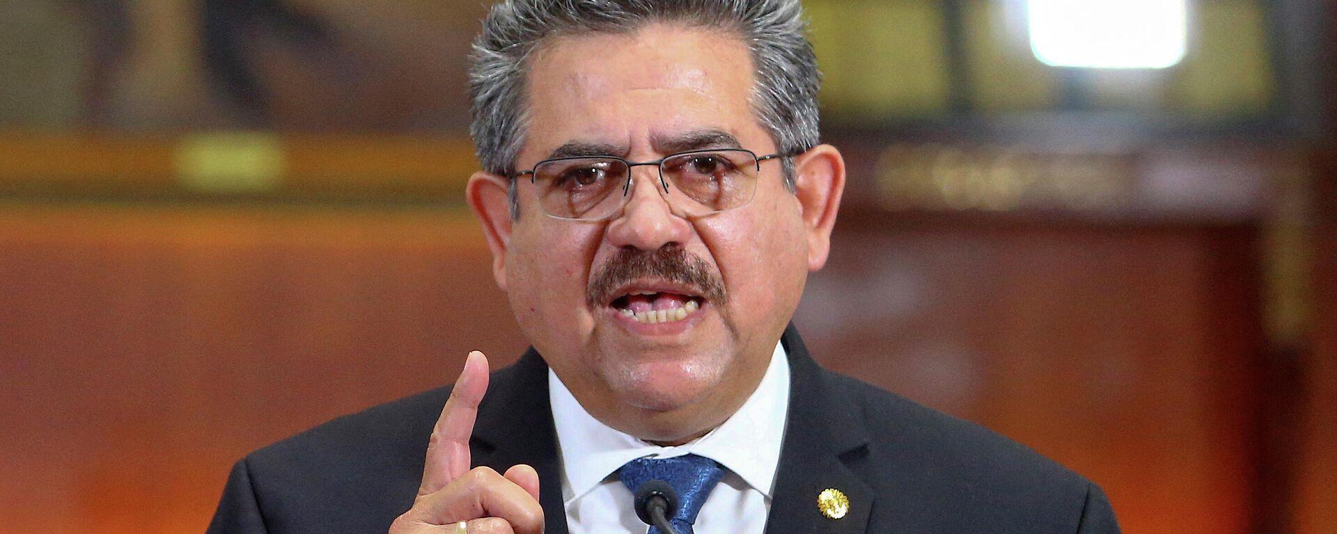 Manuel Merino, expresidente de Perú - Sputnik Mundo, 1920, 27.08.2021