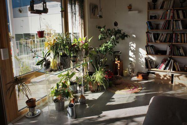 Interior de un piso de la cooperativa de viviendas Entrepatios, de Madrid - Sputnik Mundo