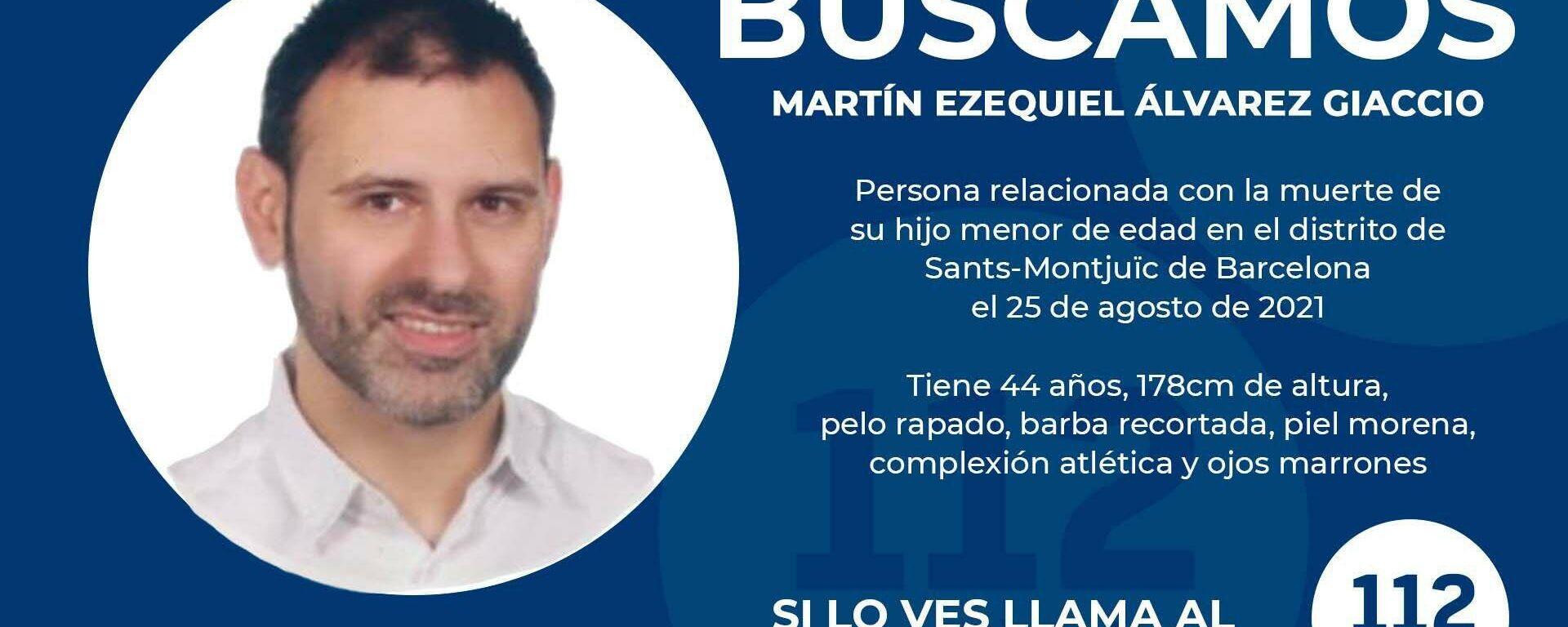 Ficha de búsqueda de Martín Ezequiel Álvarez, presunto asesino de su hijo en Barcelona - Sputnik Mundo, 1920, 31.08.2021