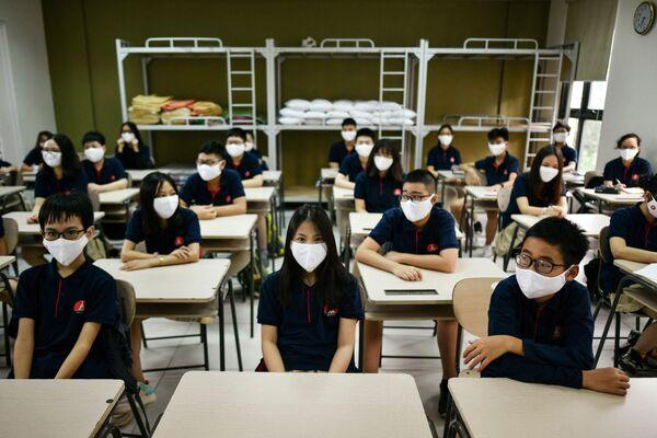 Alumnos de la Escuela Marie Curie de Hanoi (Vietnam). - Sputnik Mundo