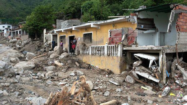 Consecuencias de la vaguada en Tovar, Venezuela - Sputnik Mundo