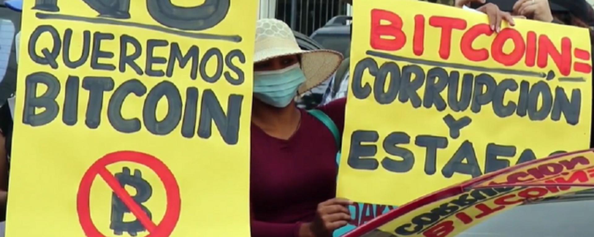 Protesta en San Salvador contra la polémica Ley Bitcóin - Sputnik Mundo, 1920, 03.09.2021