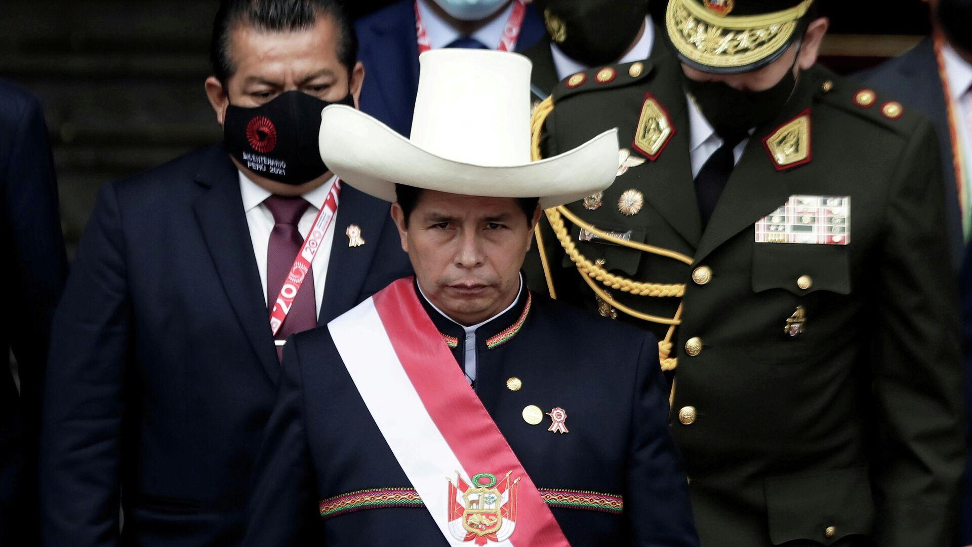 El presidente de Perú, Pedro Castillo - Sputnik Mundo, 1920, 06.09.2021