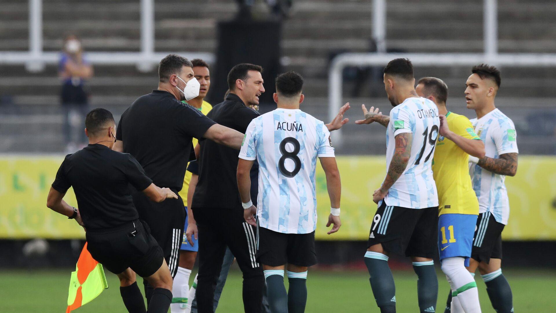 El partido Brasil-Argentina - Sputnik Mundo, 1920, 27.09.2021