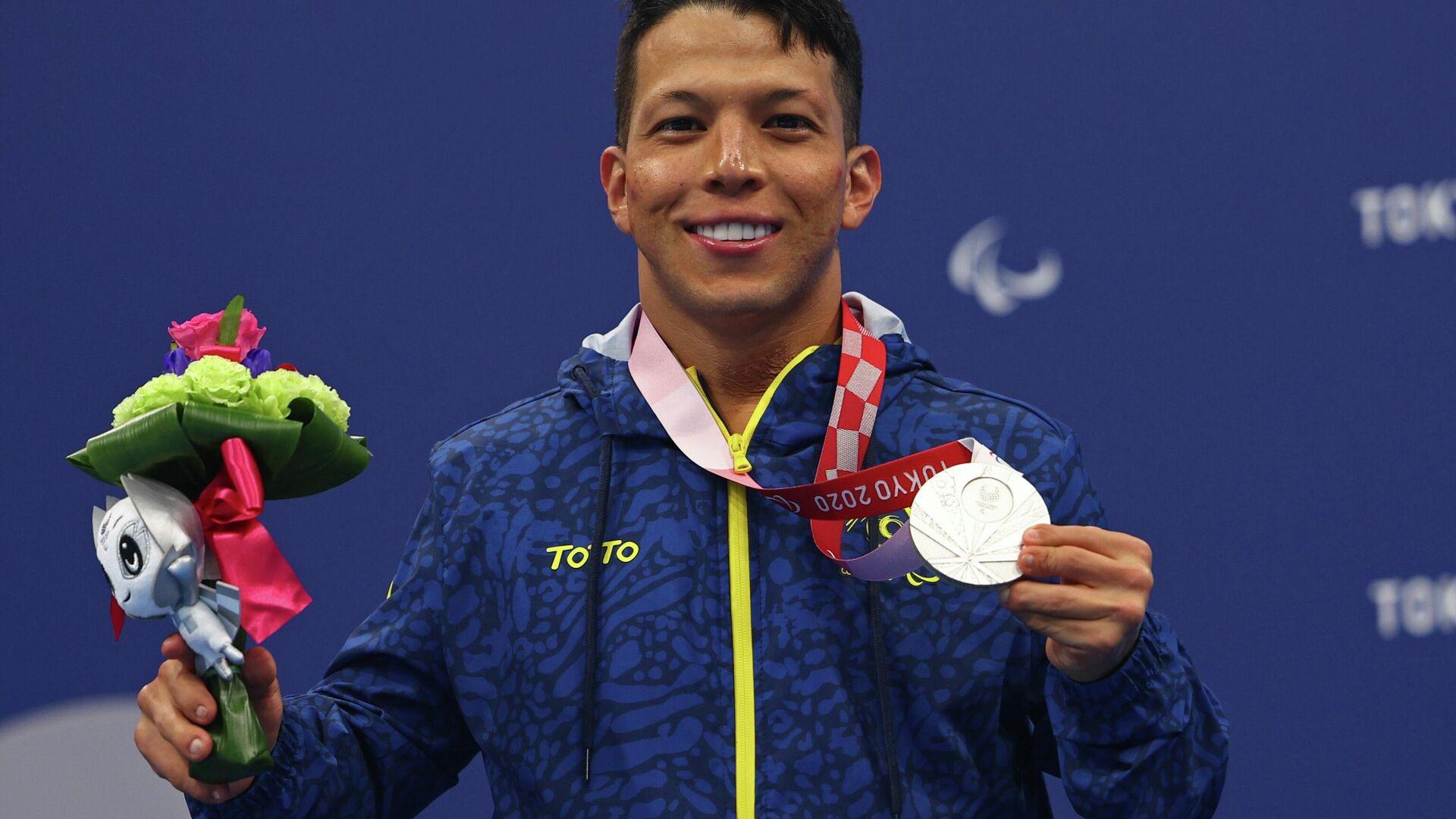 El nadador colombiano Nelson Crispín - Sputnik Mundo, 1920, 06.09.2021