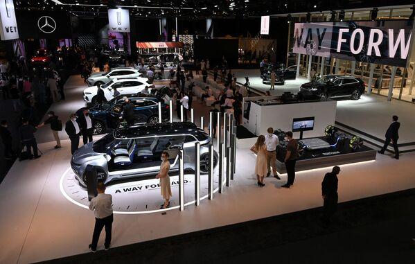 Una vista panorámica del stand del fabricante chino Great Wall Motors. - Sputnik Mundo