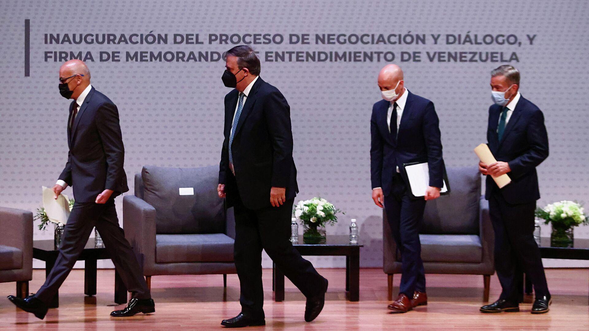 Las conversaciones entre el Gobierno y la oposición de Venezuela en México - Sputnik Mundo, 1920, 17.09.2021