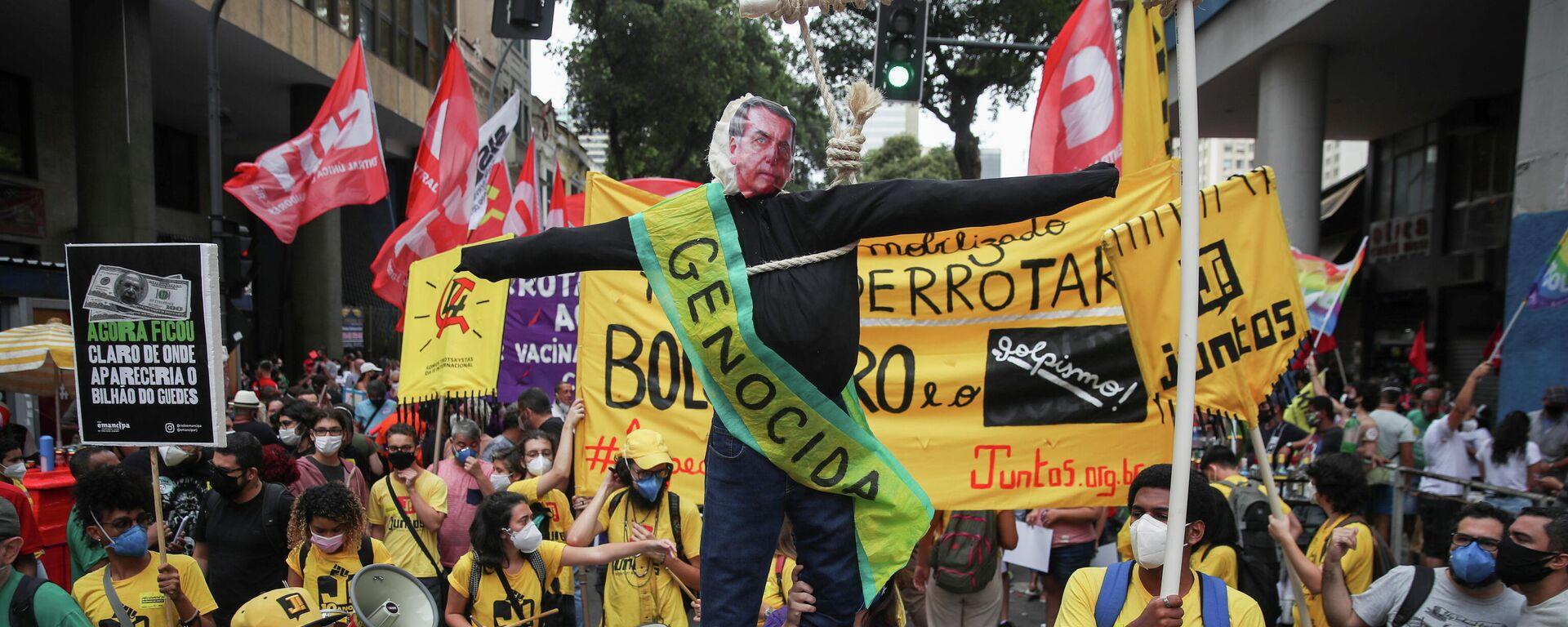 Protestas en Brasil contra Bolsonaro - Sputnik Mundo, 1920, 07.09.2021