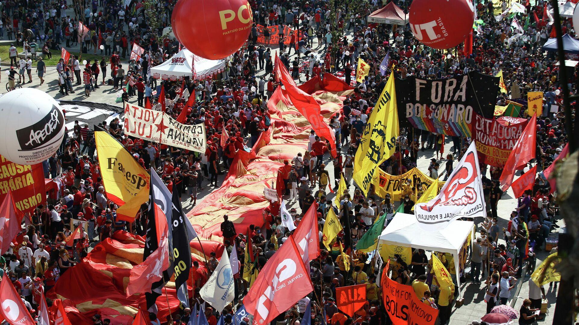 Protestas en Brasil contra Bolsonaro - Sputnik Mundo, 1920, 01.10.2021