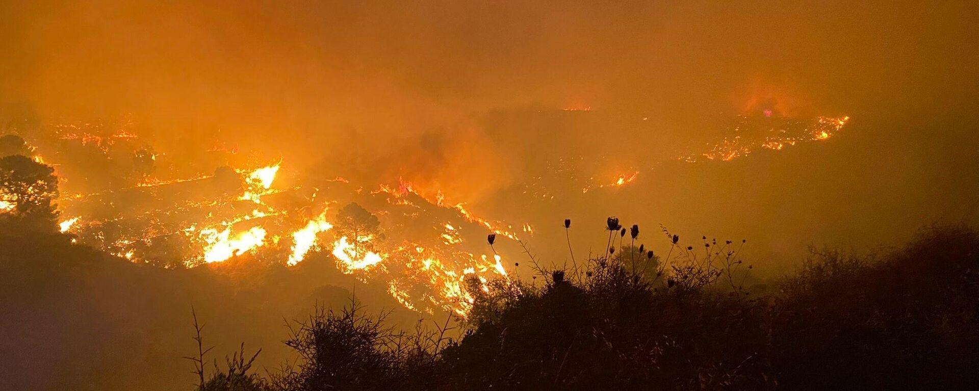 Incendio en Sierra Bermeja, Málaga, en septiembre de 2021 - Sputnik Mundo, 1920, 09.09.2021