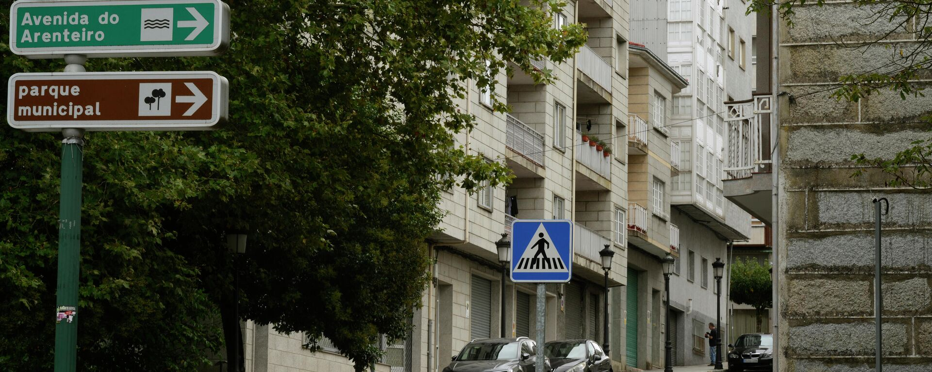 Edificio en la rúa de Astureses en O Carballiño, desde donde cayó la víctima - Sputnik Mundo, 1920, 10.09.2021