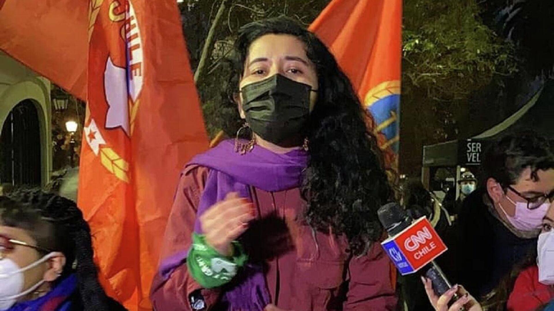 Daniela Serrano, presidenta de las Juventudes Comunistas de Chile - Sputnik Mundo, 1920, 10.09.2021