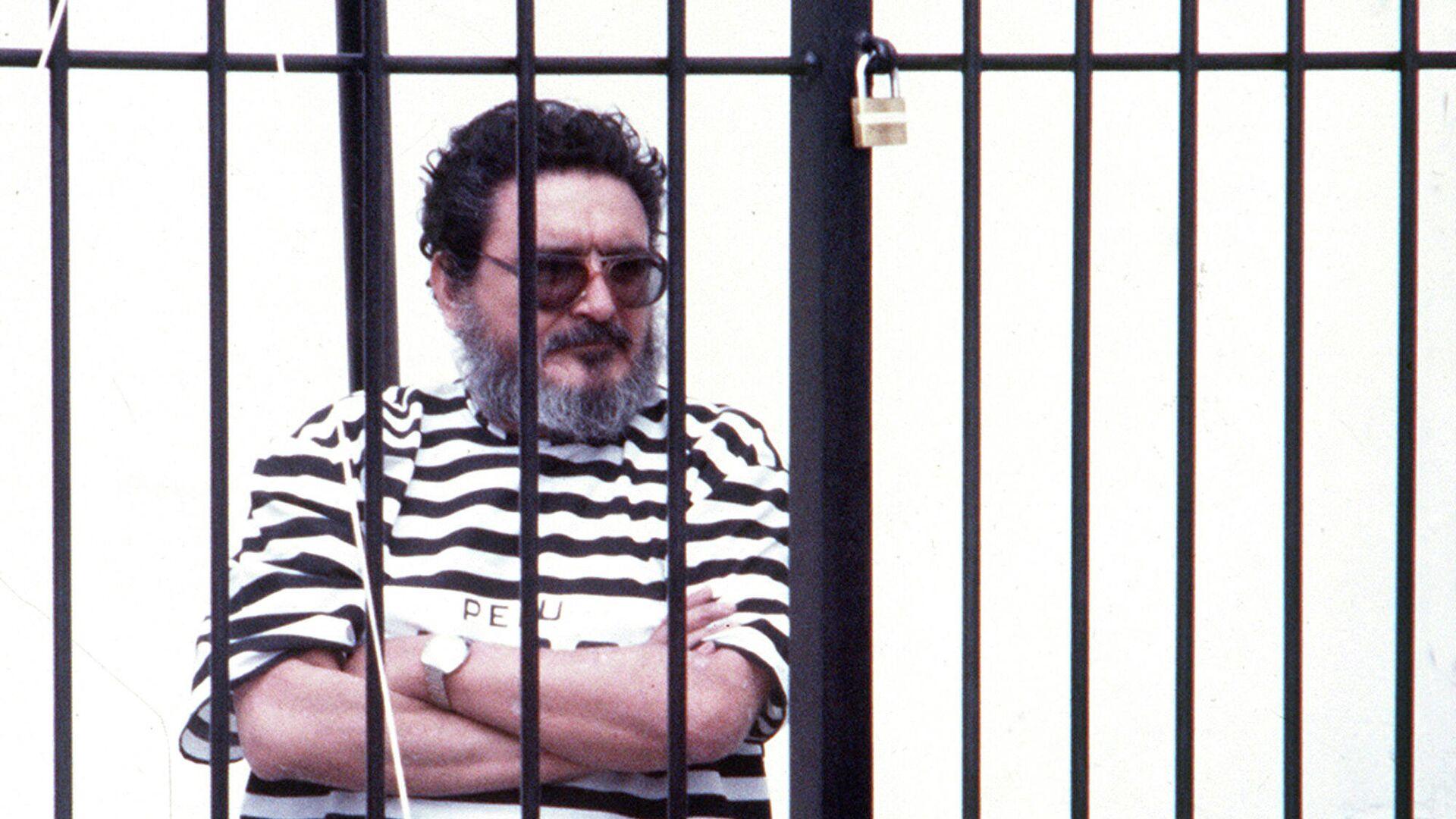 Abimael Guzmán, líder de Sendero Luminoso, detenido en Lima (Perú), el septiembre de 1992 - Sputnik Mundo, 1920, 14.09.2021