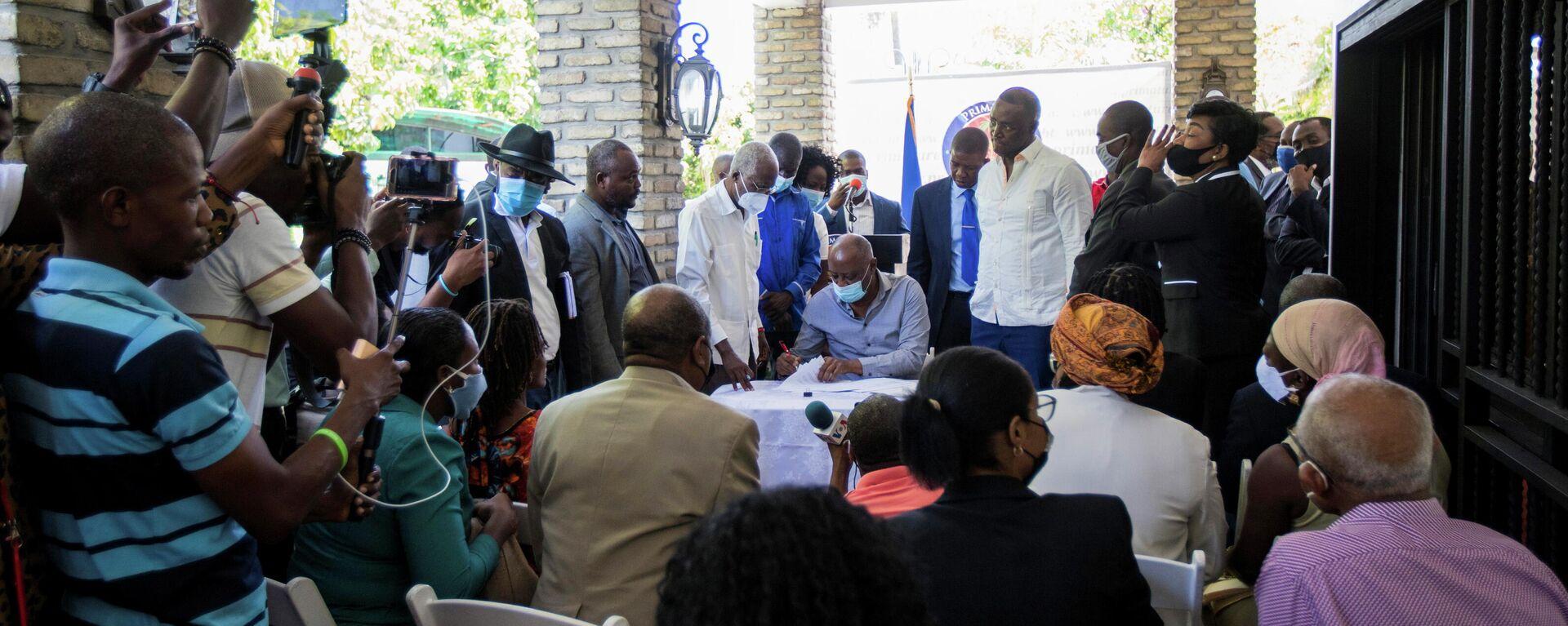 Políticos de Haití firman acuerdo político - Sputnik Mundo, 1920, 23.09.2021