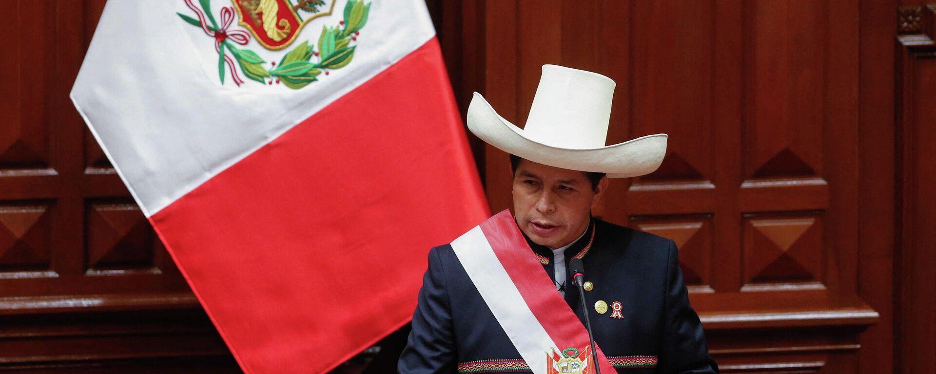 Pedro Castillo,  presidente de Perú - Sputnik Mundo, 1920, 13.09.2021