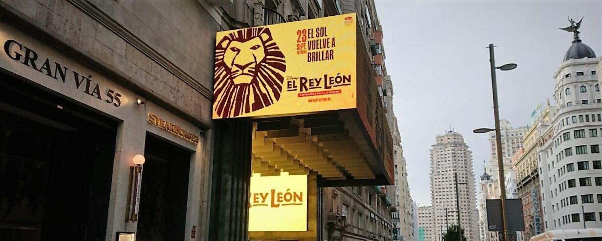Cartel del musical 'El Rey León' en la Gran Vía de Madrid - Sputnik Mundo, 1920, 14.09.2021