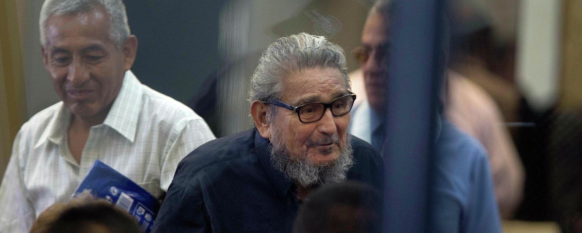 El exlíder de Sendero Luminoso, Abimael Guzmán, durante un juicio en 2017 - Sputnik Mundo, 1920, 14.09.2021