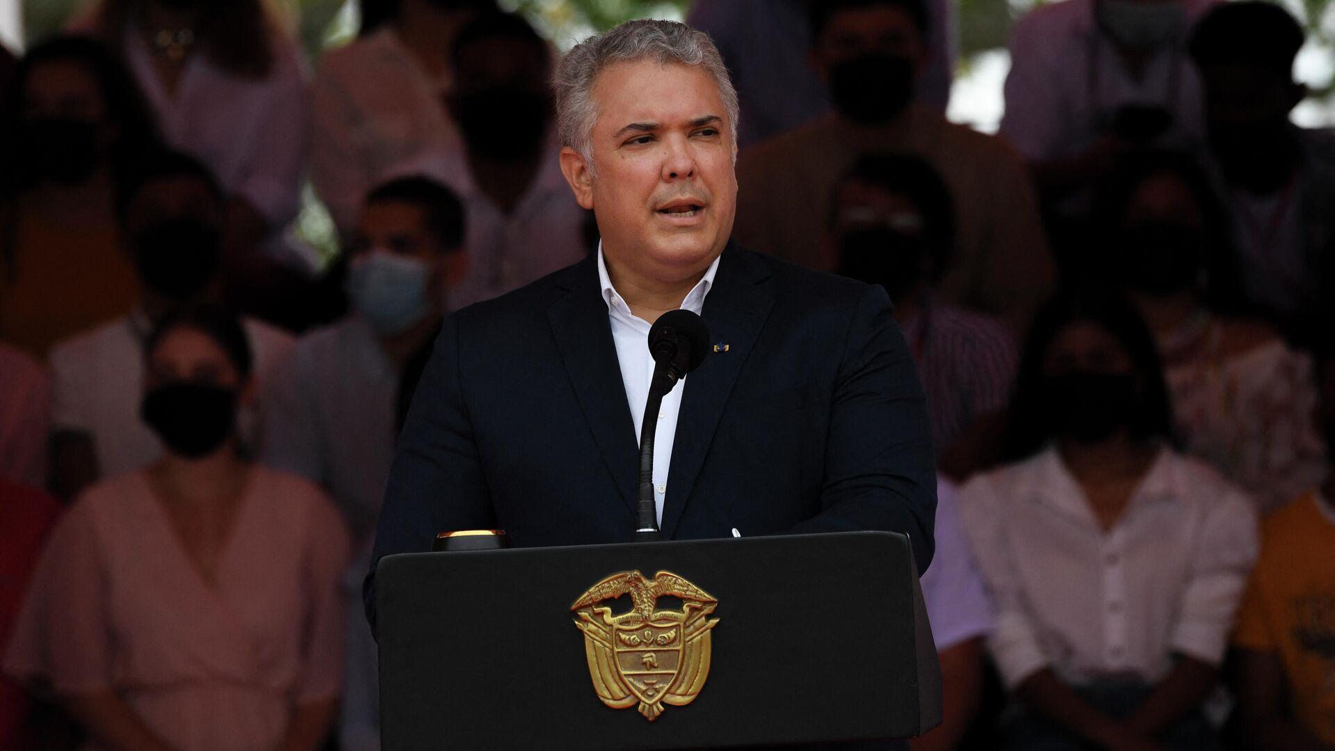 El presidente de Colombia, Iván Duque - Sputnik Mundo, 1920, 07.10.2021