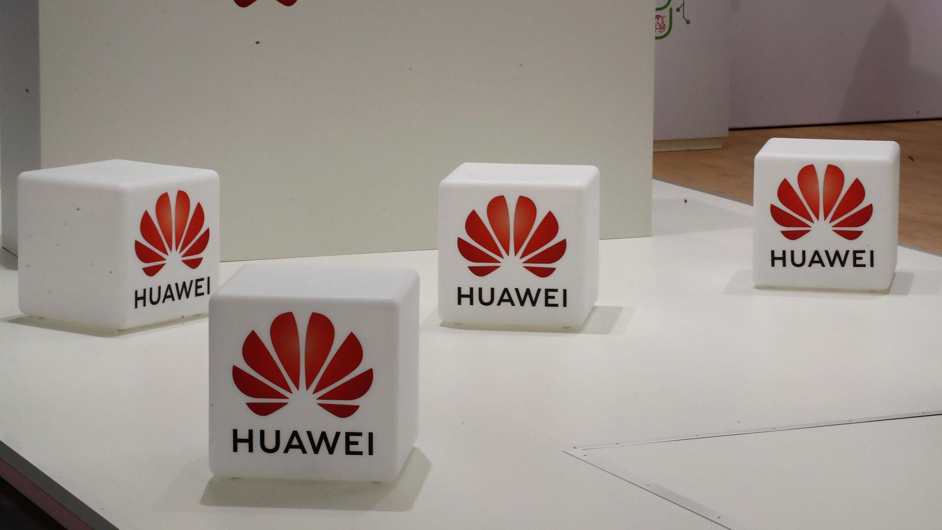 Cubos con el logo de Huawei - Sputnik Mundo, 1920, 10.10.2021