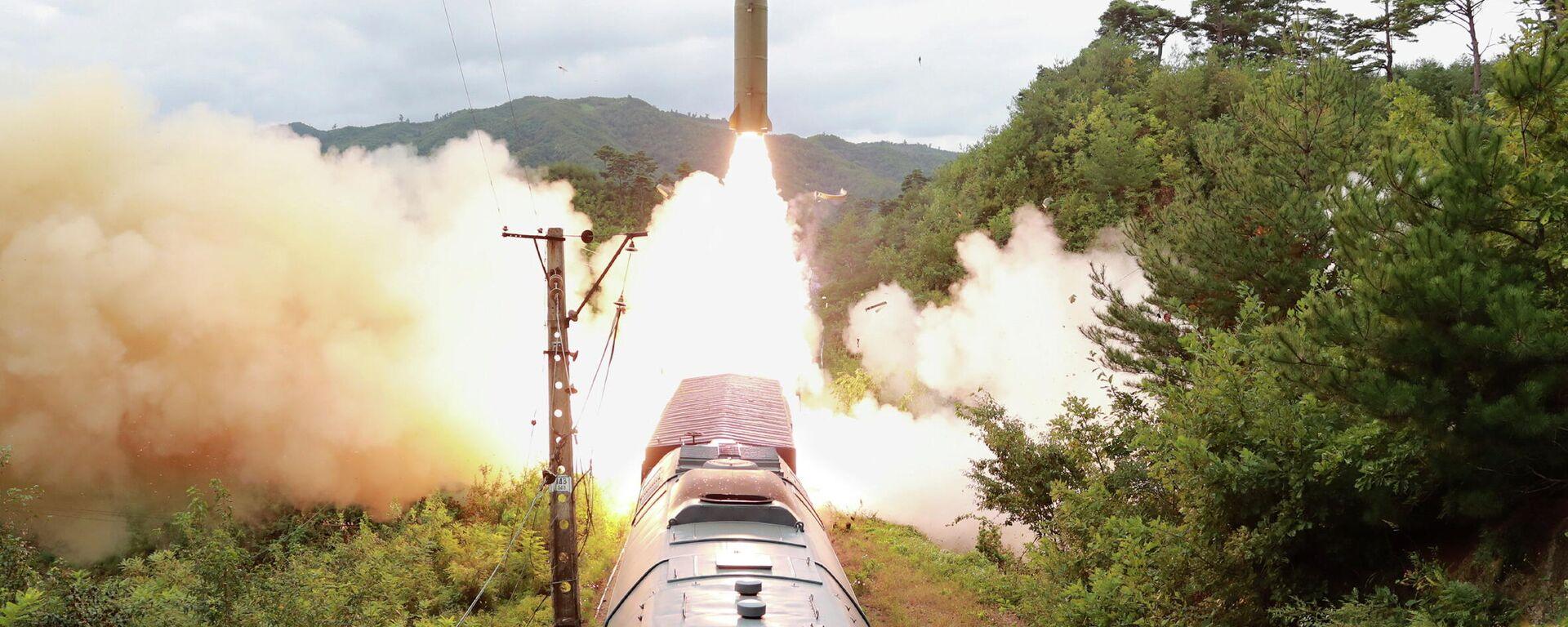 Sistema de misiles ferroviario norcoreano - Sputnik Mundo, 1920, 15.09.2021