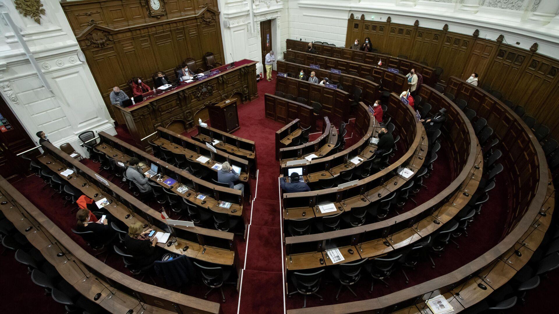 Salón de la Convención Constitucional de Chile - Sputnik Mundo, 1920, 16.09.2021