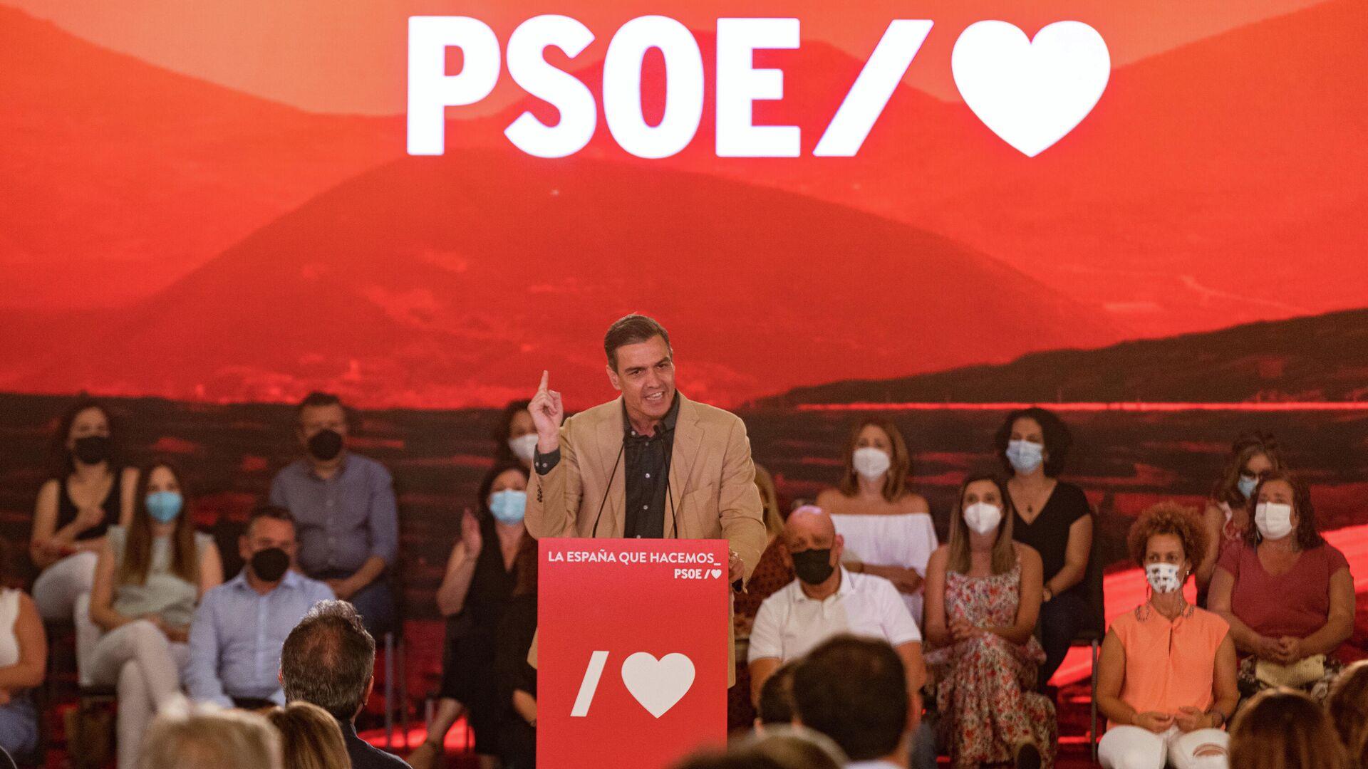 El secretario general del PSOE y presidente del Gobierno, Pedro Sánchez - Sputnik Mundo, 1920, 16.09.2021
