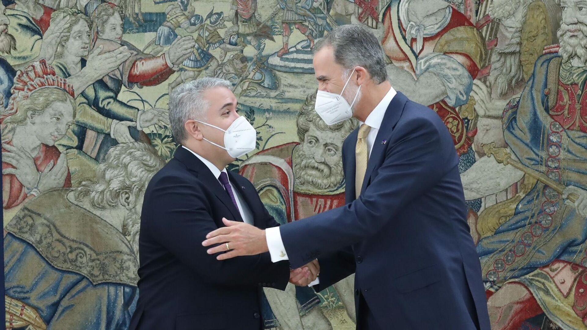El rey de España, Felipe VI, se reúne con el presidente colombiano, Iván Duque - Sputnik Mundo, 1920, 16.09.2021