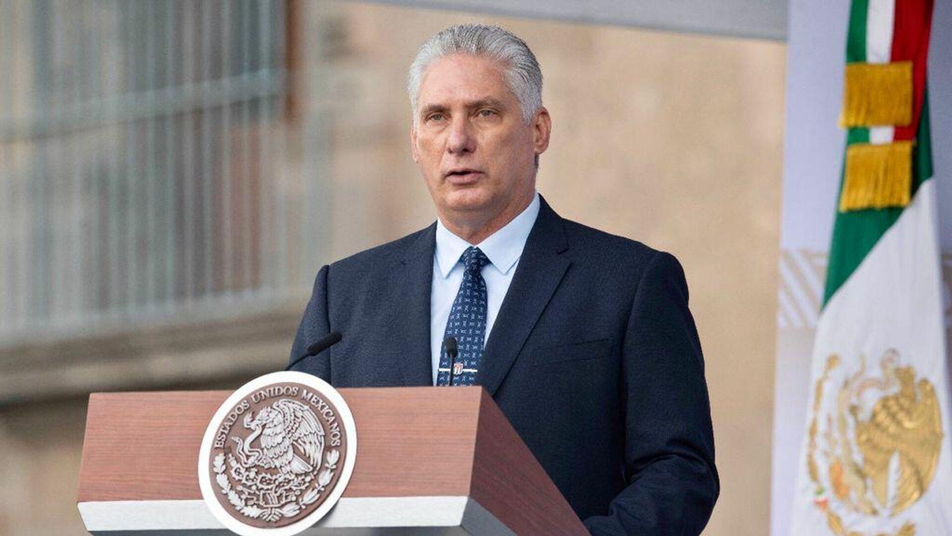 Miguel Díaz-Canel, presidente de Cuba  - Sputnik Mundo, 1920, 16.09.2021