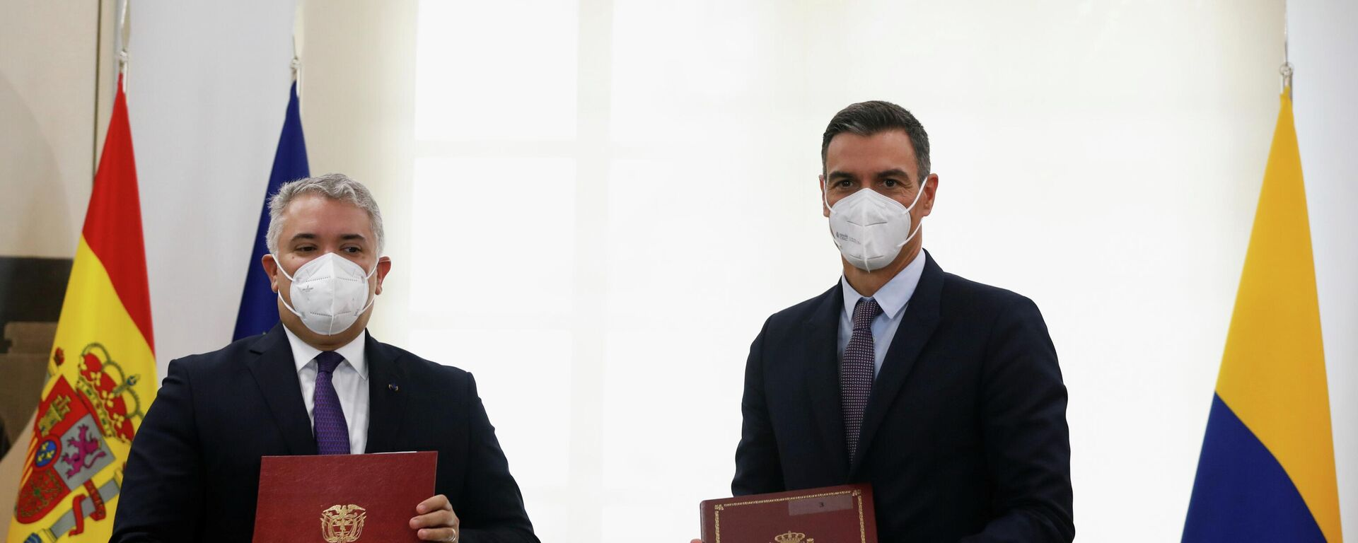 El mandatario de Colombia, Iván Duque, y el presidente del Gobierno español, Pedro Sánchez - Sputnik Mundo, 1920, 16.09.2021
